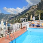 a view from the pool area to Positano
