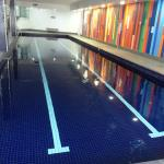 A good size swimming pool (indoor & heated)
