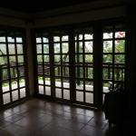 View from inside bungalow 12.