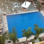 View of Pool from our balcony
