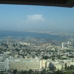 The view from the Crowne Plaza Haifa