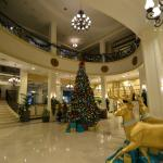 Lobby of Hilton Garden Inn Jackson at Christmas