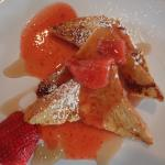 Delicious French Toast with strawberry sauce