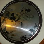 Mickey pictures all over the room