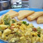 Saltfish and Bammy for breakfast