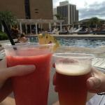 Blended Lava Flow and a Sierra Nevada at the pool