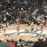 Dance team doing their thing during timeout
