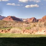 View of Snow Canyon from our Inn at Entrada casita