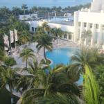 View from balcony to Lagoon Pool