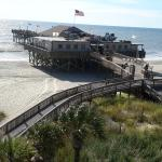 view of Pier restaurant from balcony