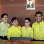 Front Office staff with smiling faces
