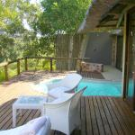 Room 4 at Leopard Hills - outdoor balcony with plunge pool