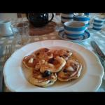 Blueberry pancakes for BBC Wiltshire