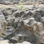 Fossil Falls, formed by lava and water, a few miles to the south.