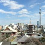 View of temple and Skytree