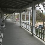 Front porch on second floor shared by guests