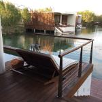 Over Water Suite with private dock and plunge pool.