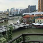 View out the window of 369 of Clarke Quay