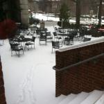 Snow at the hotel