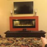 Camelot Suite...View from the king size bed...swanky fireplace!