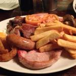 mixed grill, absolutely delicious