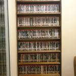 Wide selection of DVDs and books for the guests to enjoy!