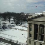Fabulous Room: View of the Alexander Hamilton statue & Treasury Building.