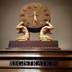 Beautiful detail from the original Hotel Washington registration desk that is still in the lobby