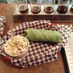 Smoker tri tip wrap and the beer sampler