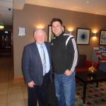 With Scottish National Coach Craig Brown in dining area of hotel