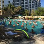 Water aerobics was very well attended!