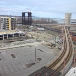 not one train track, but two! view from 6th floor room.