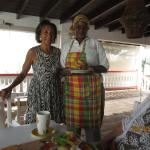 Beverly & Judith serving b'fast