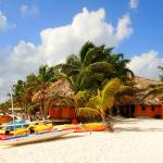 Kayaks, snorkeling equipment and other water toys for guests.