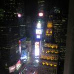 The view at night from our room on the 38th floor