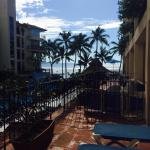 View from outside of first floor elevator toward the beach
