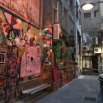 Famouse Melbourne alleys and back streets with Graffitti