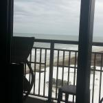 Island Vista Myrtle Beach SC Oceanview Room View while laying in bed