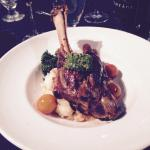 Amazing lamb shank dinner