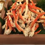 The all-you-can-eat Hokkaido buffet included snow and king crab.