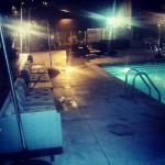 Pool vibes at night