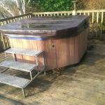 Hot tub on decking of Celyn 1