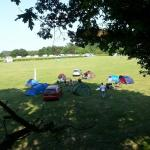 A view of our rather messy camp