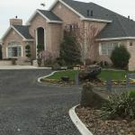 The driveway up to the front of Cameo Heights