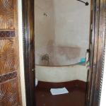 Bathroom in the Zambezi room (slightly weird, but functional!)