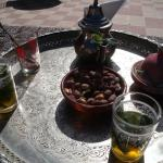 Mint tea at the mountain riad