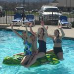 Pool fun in March