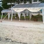 Tent for event by the sea