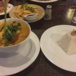 Seafood curry and rice