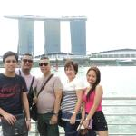 my family at merlion at marina bay